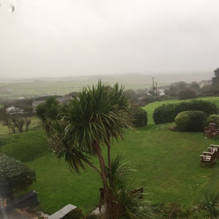 Beacon Country House Hotel: View from the room with hurricane brian