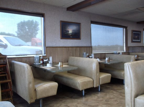 ‪‪South Sioux City‬, ‪Nebraska‬: Banquettes confortables / Great booths‬