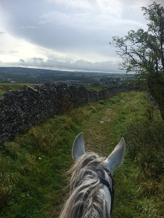 Buxton, UK: open road on the pack-horse trail