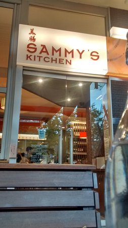 Sammy's Kitchen: The Entry. You could choose to sit in the outside tables as well