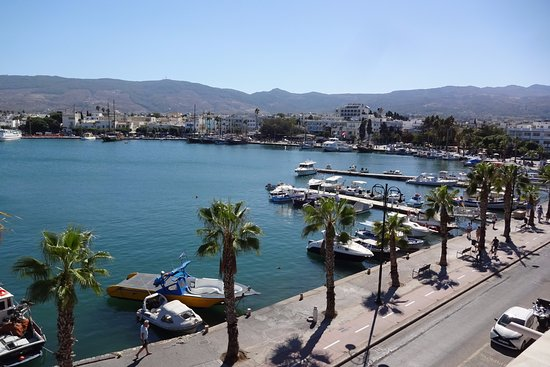 Balcony view from the Kosta Palace Hotel