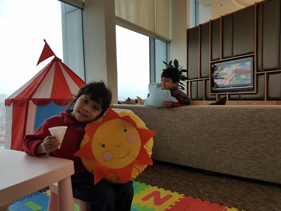Somerset Ampang Kuala Lumpur: Colorful, cheerful clubhouse for kids and adults to rest/relax and/or play.