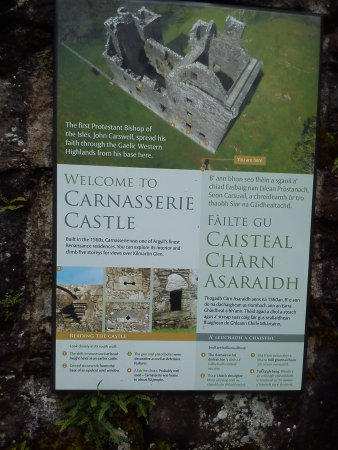 Kilmartin, UK: Castle History Board