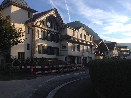 Exterior of Hotel Alphorn.