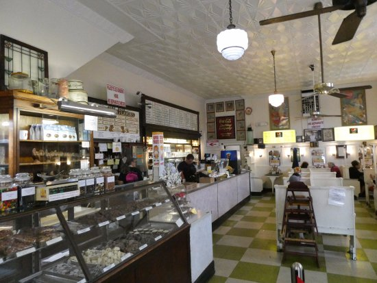 Inside Crown Candy Kitchen w candy counter in foreground - Picture ...