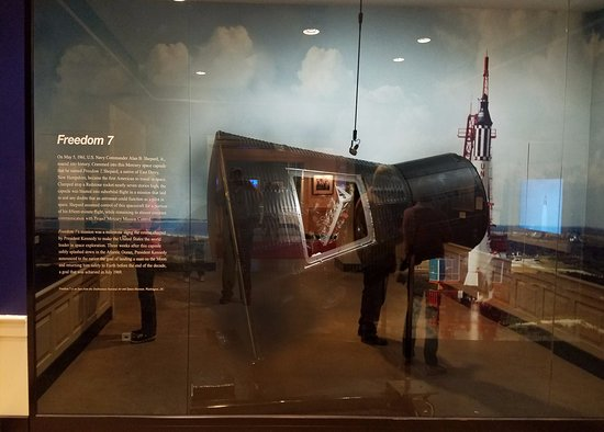 John F. Kennedy Presidential Museum & Library : Freedom 7 - used in the first US manned space flight
