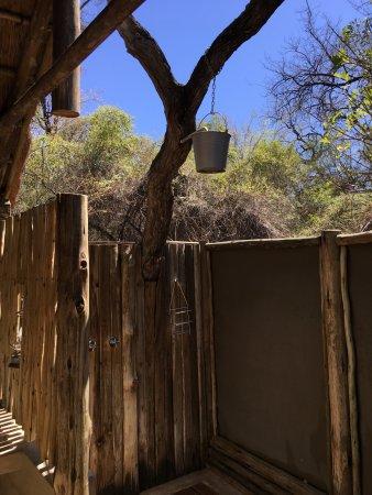 Mashatu Tent Camp: The open air shower