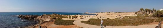 Caesarea, Israel: VISTA PANORAMICA DE CESAREA YACIMIENTO ARQUEOLOGICO