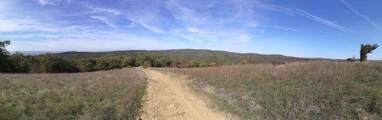 Free Hiking Tour Sveti Vlas : Panoramma foto van het hoogste punt