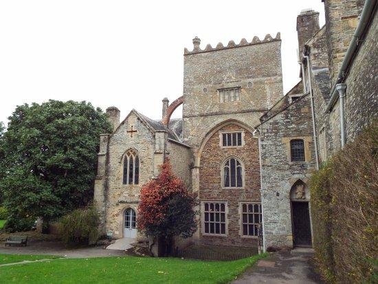 Yelverton, UK: the house a rather awkward 16th century conversion job