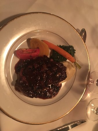 Deep Cove Chalet: New York steak in a peppercorn sauce