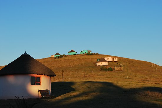 Nqileni Village, South Africa: one of the rondavels of the Bulungula lodge