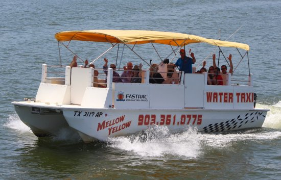 Pottsboro, TX: Mellow Yellow is available for Water Taxi Services, Lake History Cruises & Shuttles!