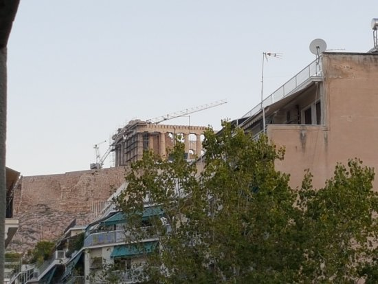 Divani Palace Acropolis: View of the Acropolis from the bedroom balcony