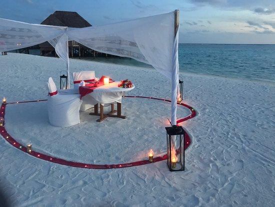 Conrad Maldives Rangali Island Our Private Beach Dinner