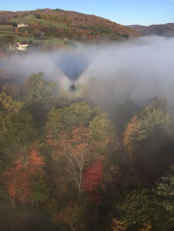 Quechee, VT: Our reflection in the fog... so incredible!