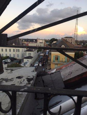 Hotel Villa Convento: View from 4th Floor Balcony towards French Market