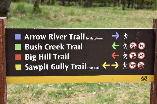 Arrowtown, Nueva Zelanda: Demarcaciòn de los senderos
