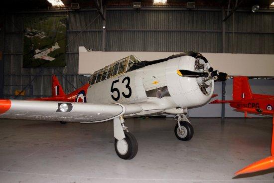 Papakura, Nuova Zelanda: Harvard 53 of the'Roaring Forties' aerobatic team