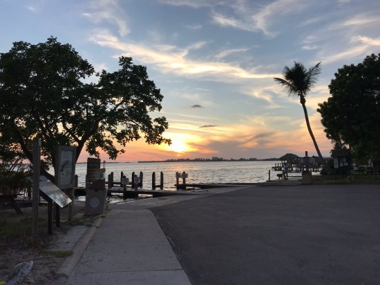 Sunset at Cape Coral Yacht Club beach