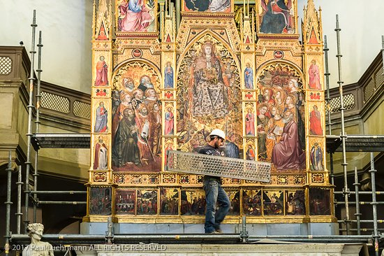 Duomo - Montepulciano - Main Altar w scaffolding going up