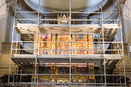 Duomo - Montepulciano - scaffolding in place