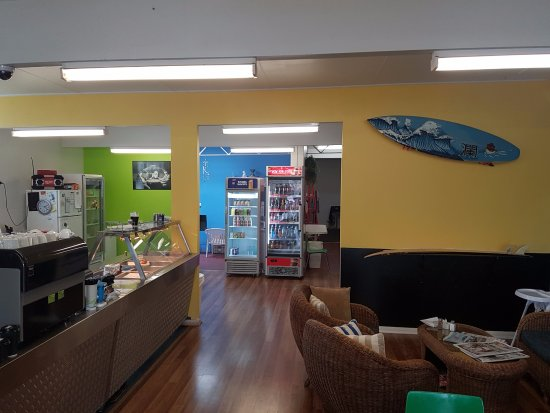 St Helens, Australia: inside seabreeze cafe