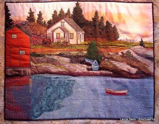 Lunenburg, Canadá: One of Laurie Swim's Art Quilts