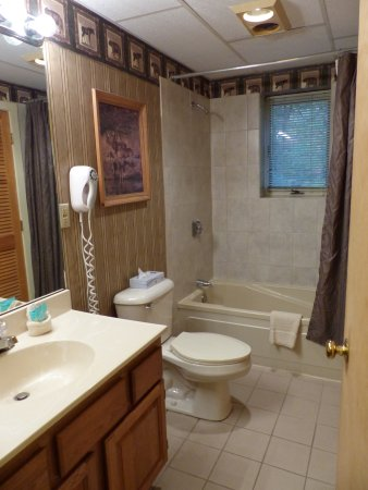 Bartlett, NH: Bath in studio -- Attitash Mountain Village