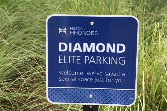 Duncan, Carolina del Sur: Parking Sign for HHonors Members