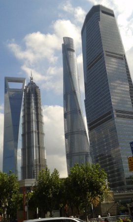 Pudong New Area: What a beautiful sky line -