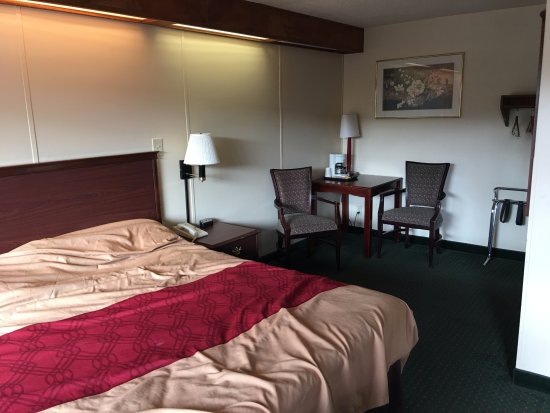 Econo Lodge Convention Center: Basic. As always, the unmade bed and mess is mine :)