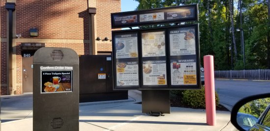 Cary, Carolina del Norte: Drive thru order point