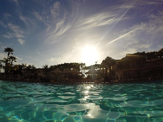 The Fess Parker - A Doubletree by Hilton Resort : Sunset Over Pool