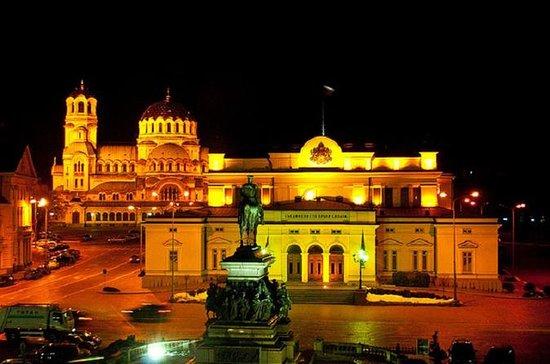 Tour panorámico de Sofía por la noche...