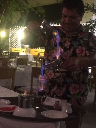 Le Bistro: Flaming Mexican Coffee, prepared at the table