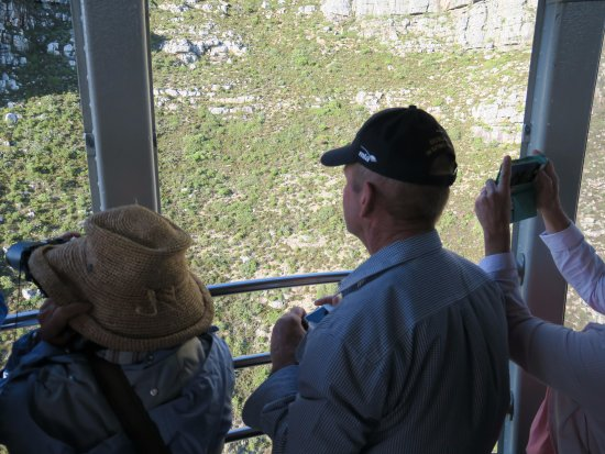 Table Mountain Aerial Cableway: Rotating cable car