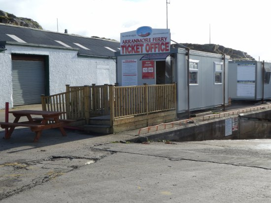 red ferry ticket office at Burtonport