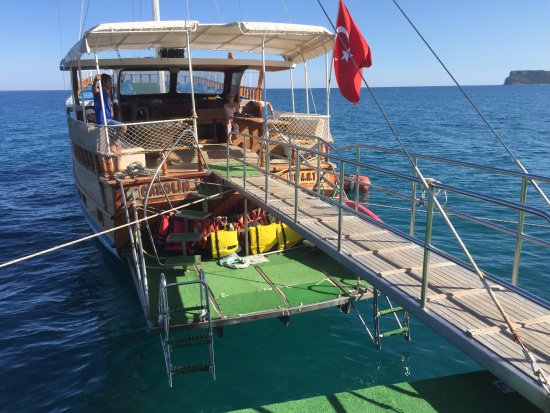 Club Med Palmiye: Le bateau pour le snorkeling