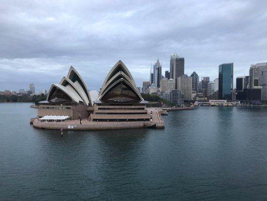 Circular Quay to the right of the Sydney Opera House