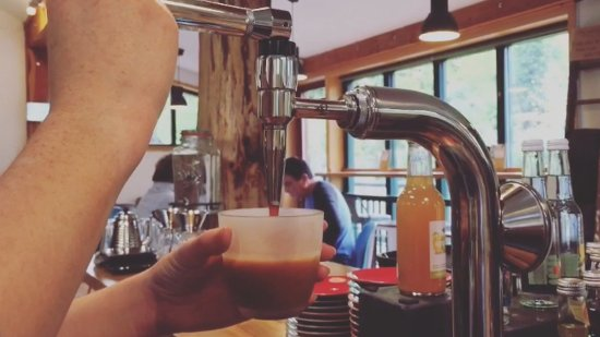 Coalbrookdale, UK: Proud to serve Nitro Coffee in collaboration with Hundred House Coffee, Shropshire