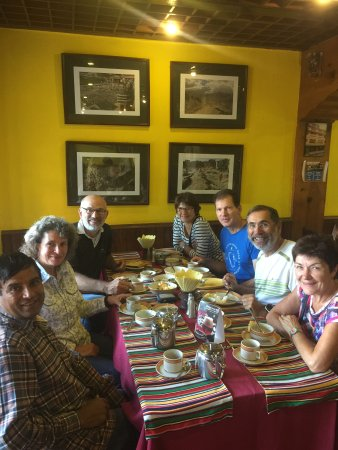 Shiva Guest House1 & 2: French group for the breakfast