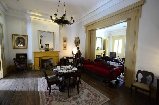 Destrehan Plantation: The salon, upper floor of the main building.