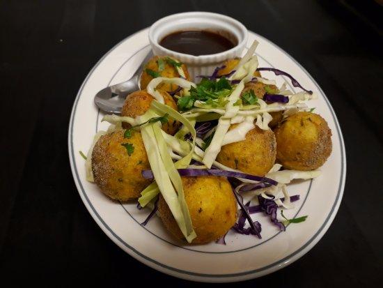 Te Puke, Yeni Zelanda: cheese & potato balls