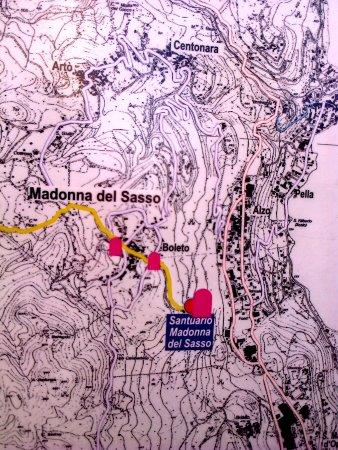 Madonna del Sasso, Itália: Cartina