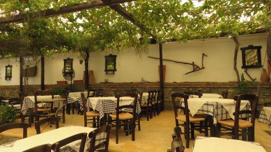 Marilena Restaurant : l'arrière salle