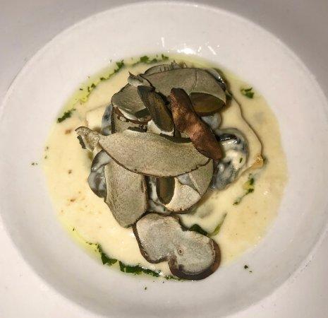 Waltham, MA: Snails on Polenta with Tarragon Pesto and Porcini