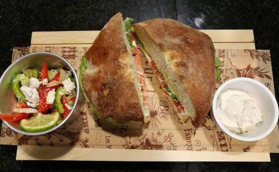 Choco Kebab Cafe & Vegan Bar: Maltese Ftira.. (tuna, chiken, pork, beef, salmon)