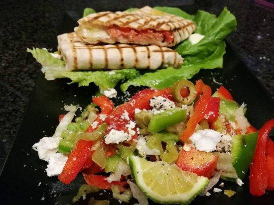 Choco Kebab Cafe & Vegan Bar: Wrap... (chiken,salmon, pork, beef)