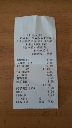 Riells del Fai, Spania: Se puede observar precios muy ajustados por la gran calidad que ofrecen.